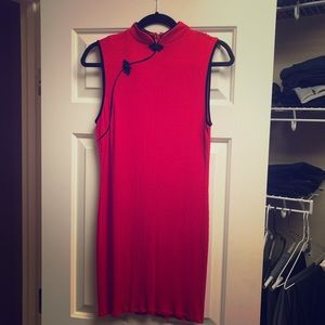 Chinese Qipao style red dress